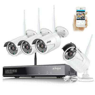 SANNCE Wireless WIFI Network 8CH NVR In/Outdoor Security