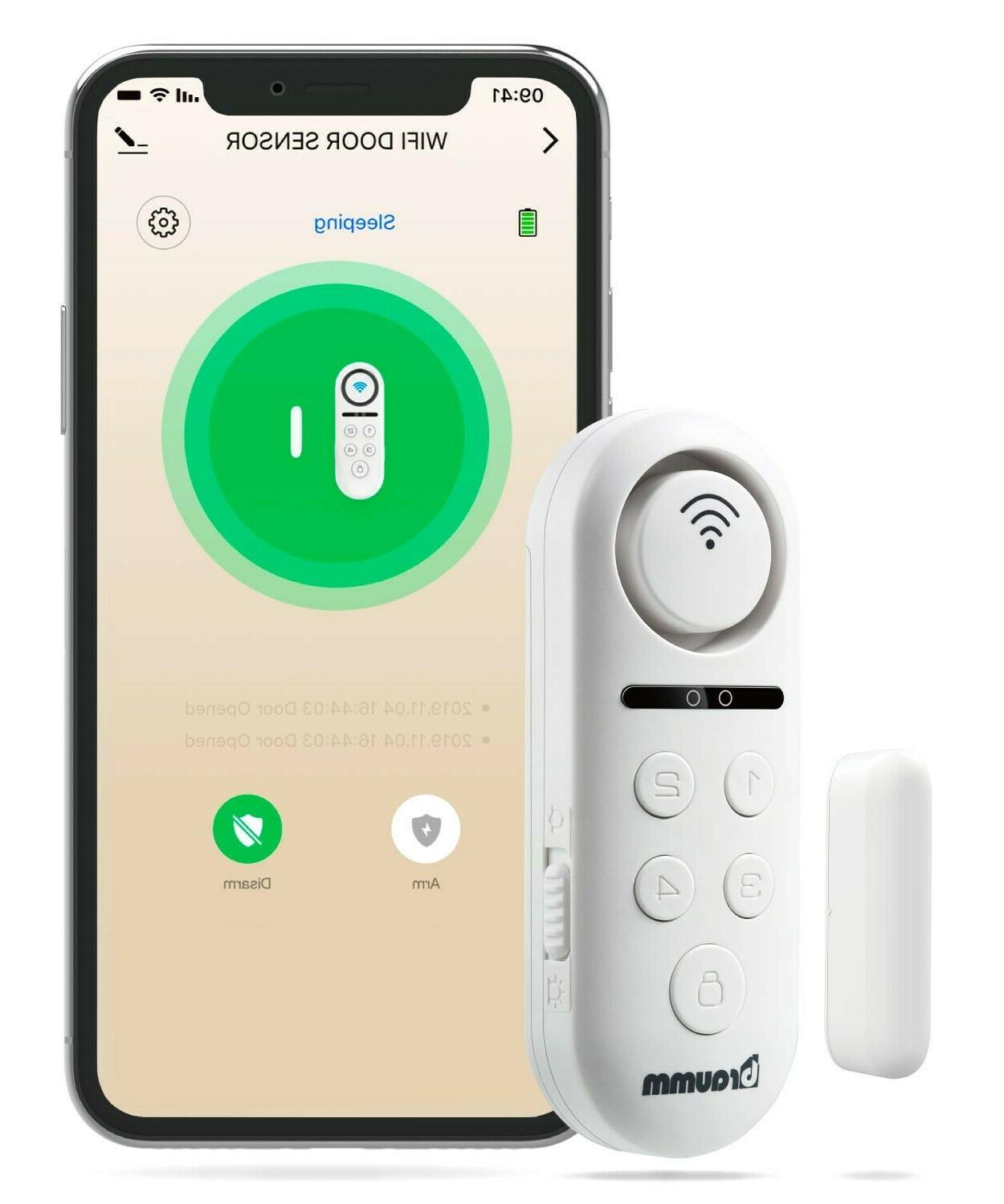 Braumm Wireless Wifi Smart Door Window Alarm Sensor Security