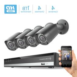 Amcrest HD 1080P-Lite 4CH Video Security Camera System -Four