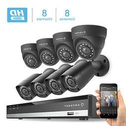 Amcrest HD 1080-Lite 8CH Video Security Camera System w/ 8 7
