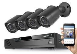 Amcrest HD 1080-Lite 8CH Video Security Camera System w/ 4 7