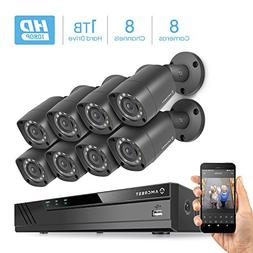 Amcrest HD 1080P-Lite 8CH Video Security Camera System w/Eig