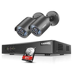ANNKE 4-Channel 1080P Lite HD-TVI DVR Recorder with 1TB Hard