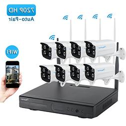 Amorvue 8 Channel 1080P Outdoor Wireless Security Camera Sys