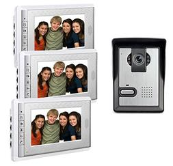 AMOCAM 7inch LCD Monitor Wired Video Intercom Doorbell Syste