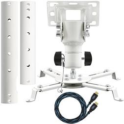 Cheetah Mounts APMEW Universal Projector Ceiling Mount. Incl