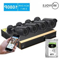 Movols 8CH CCTV camera <font><b>System</b></font> 4PCS <font
