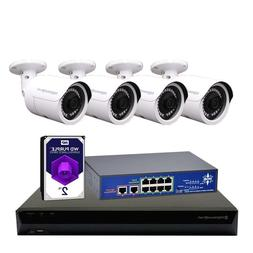 MXS 8CH NVR 8MP POE Bullet 4K Camera System Home Security Su