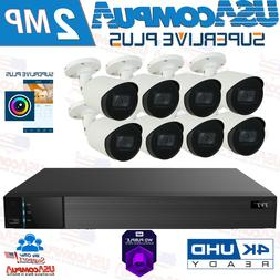 New Q-See 8 Channel 1080p Analog DVR  Security Cameras Syste