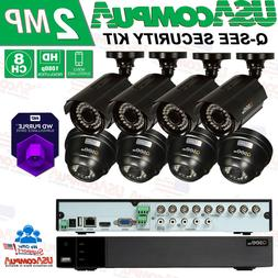 New Q-See 8CH MIX 1080p Analog DVR  Security Cameras System