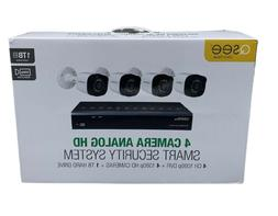 New Q-See QR474-4HP-1 1080p Security Surveillance System 4 B