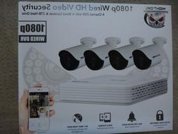 New Sealed Night Owl 4 Channel 1080p DVR with 4 x 1080p Came