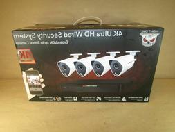 New Sealed Night Owl CL-84P2-4K Channel 4K Ultra HD Wired Sm
