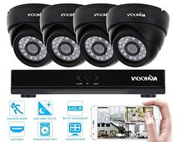 KKmoon 4 Channel NVR HD 960H / D1 Video Security System with