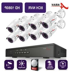 ANRAN Outdoor POE IP Security Camera System Home 4/8 Channel