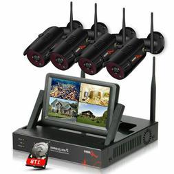 ANRAN Outdoor Security WiFi Camera System CCTV 1080P HD 4/8C