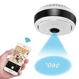 360 Degree Panoramic Camera WiFi Indoor IP Camera with Clear