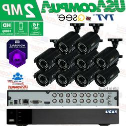 Q-See 16CH 10 Camera 1080p Full HD Security System 2TB HARD