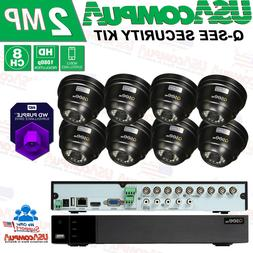 Q-See 4K 8CH Dome 1080p Analog DVR  Security Cameras System