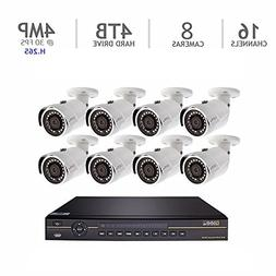 Q-See Eight Camera 4MP H.265 with NVR IP HD 4 MP @ 30 FPS 16