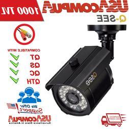 Q See  QM1201B Analogo Black Surveillance Camera  1000 TVL