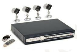 Q See QSDR44DRTC 4 Channel H.264 320GB DVR 4 Camera CCD Secu