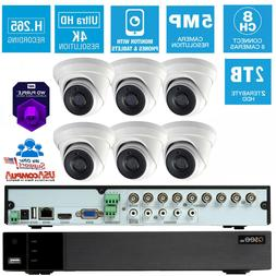 Q-See Security Camera System  6 Turret 8CH 2TB Hard Disk Pur