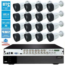 Q-See  Security System 16 Channel 4K-UHD Analog Camera 5MP C