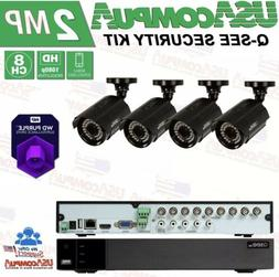 Q-See Security system 4 Cameras HD-1080p 1TB Purple Hard Dis
