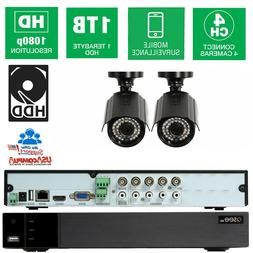 Q-See Security system 4 CH 4 Cameras HD-1080p 1TB Hard Disk