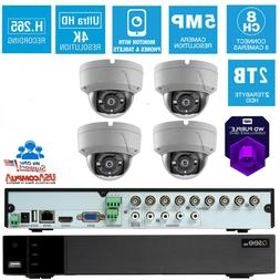 SALE! Q-See Security System 4 Dome Vandal Proof 2TB Hard Dis