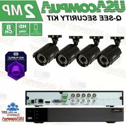 Q-See Security system 4CH 4 Cameras HD-1080p 1TB Purple Hard