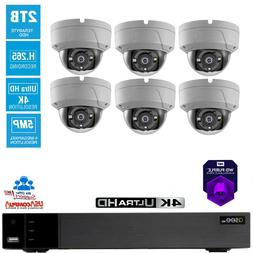 Q-See Security System 6 Camera Vandal Proof 8CH 2TB Hard Dis