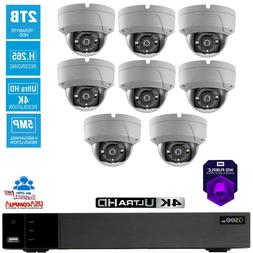 Q-See Security System 8 Camera Vandal Proof 8CH 2TB Hard Dis