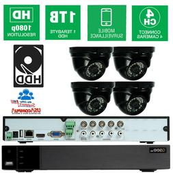 Q-See  Security System  8 CH 4 Cameras HD 1080p with 1TB HDD
