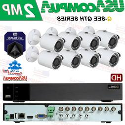 Q-See Security System 8 Channel  KIT QTH98 HD BULLET 1080P H
