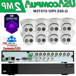 Q-See Security  System  8CH Turret Exir 1080p Analog DVR  CC