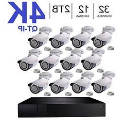 Q-See 4K  QT-IP Kit Twelve Camera with NVR IP Ultra-HD 32-Ch