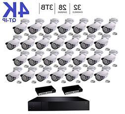 Q-See 4K  QT-IP Kit Twenty Eight Camera with NVR IP Ultra-HD