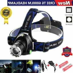Rechargeable 6000LM XM-L T6 LED Headlamp Headlight 18650 Hea