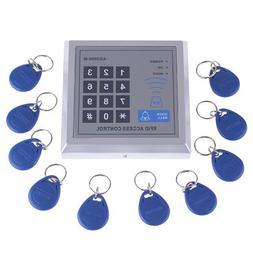 RFID Proximity Door Entry Access Control System + 10 Key Fob