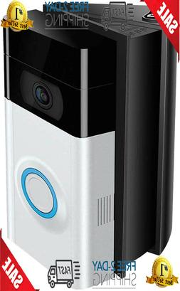 Ring Wi-Fi Enabled Video Doorbell in Satin Nickel Works with