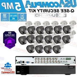 SALE! Q-See Security Camera System 16 CH 5MP  4K UHD