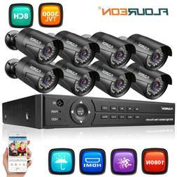 Security 4/8CH 1080N AHD DVR Outdoor Surveillance CCTV Night