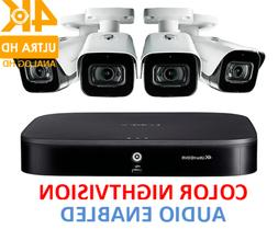 Lorex Security 4K HD Surveillance System 4 MPX Cameras AUDIO