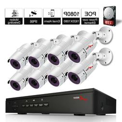 ANRAN Security Camera System CCTV PoE System 1080P Outdoor P