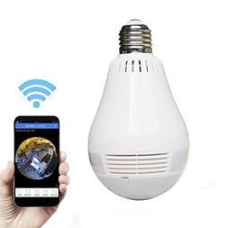 AX Security Camera Wireless IP light bulb Hidden video camer