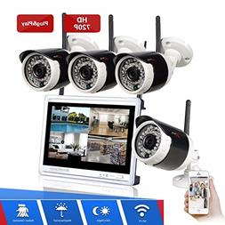 Security Camera System Wireless, ARSECUT 4CH HD Video Survei