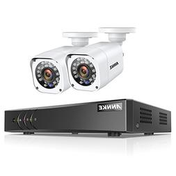 ANNKE 720P Security Camera System 4CH 1080P Lite DVR and  12