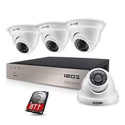 ZOSI FULL TRUE 1080P Home Surveillance Camera System, 4 Weat
